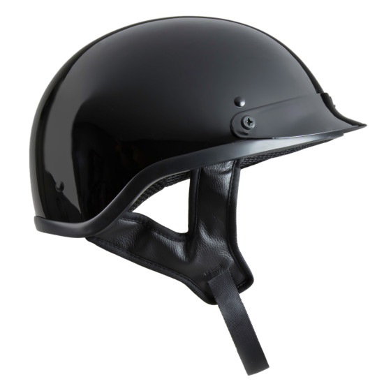DELUXE SHORTY HELMET – GLOSS BLACK