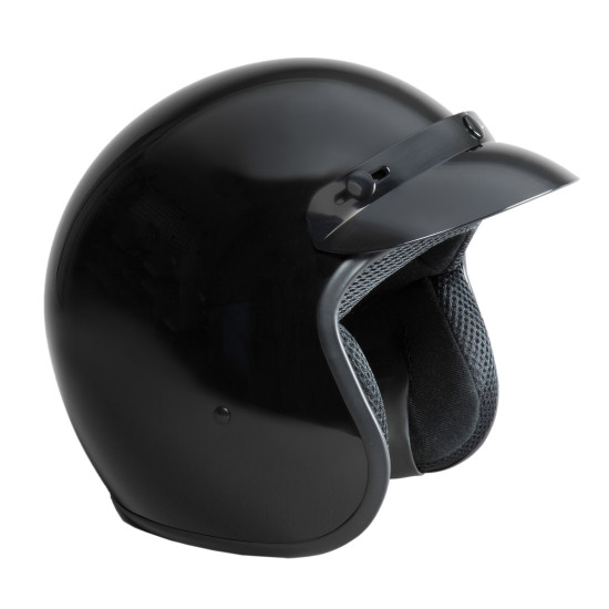 OPEN FACE HELMET - GLOSS BLACK