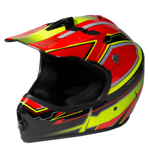 Youth Frenzy Helmet - Red / Yellow