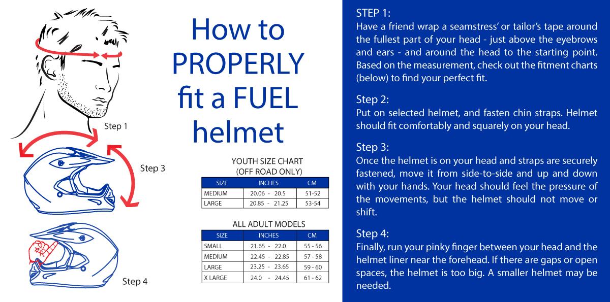 Fuel Helmet Size Chart